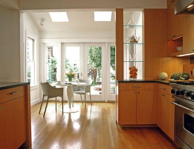 Glass Open Kitchen Shelves