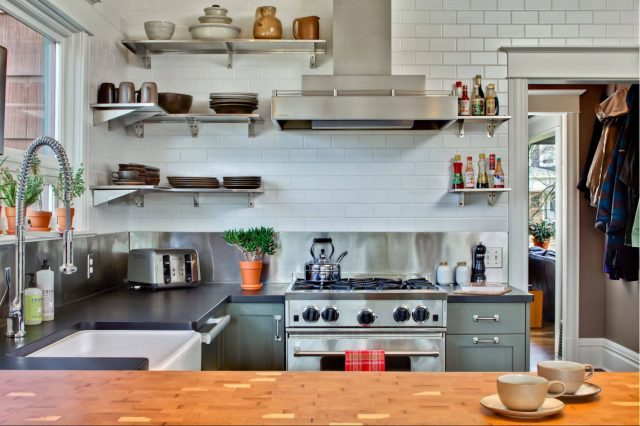 Kitchen Designs with Stainless Steel Shelves
