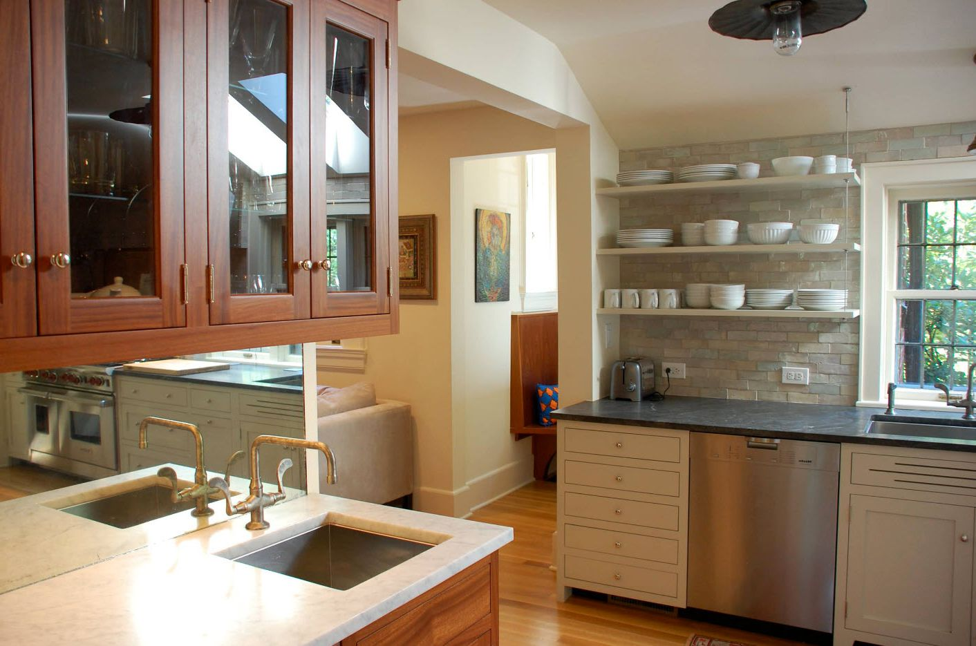 Open Shelves As A Part Of A Kitchen Interior