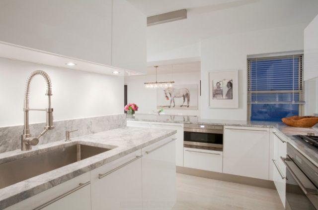 Bright laminate in the kitchen
