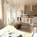 Chandelier for a large kitchen