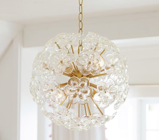 Flower glass chandelier