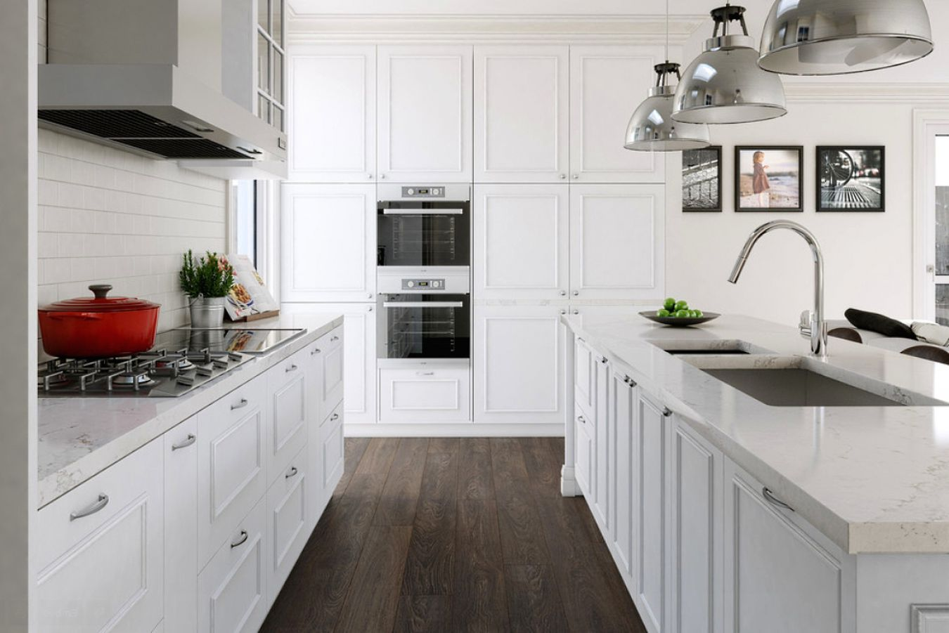 50 best white kitchens design ideas pictures tips for Kitchen remodel ideas with white cabinets