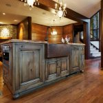 Antique kitchen island with cabinets