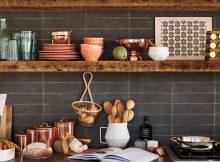 Open-shelves-in-the-dark-kitchen